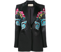 multicoloured print blazer