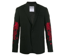 Mythological Creatures embroidered blazer