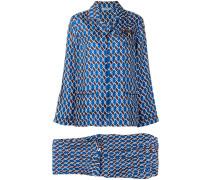 Pyjama mit Argyle-Print