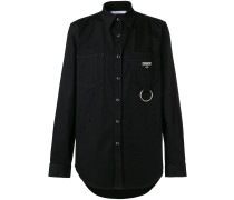 logo patch fitted shirt