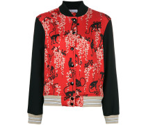 monkey printed bomber jacket