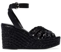 '105' Wedge-Sandalen aus Bast