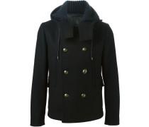 Kurzer Mantel mit Messingknöpfen