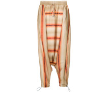 printed drop crotch trousers - Unavailable
