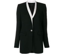 contrast lapel blazer