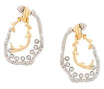 Zweifarbige Ohrringe mit Kristallen