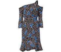 off-shoulder printed dress