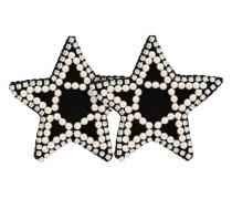 Sternförmige Ohrringe mit Kristallen