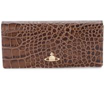 long croco embossed wallet