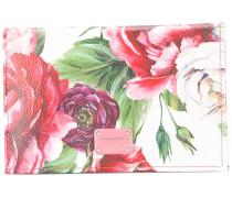 floral-print cardholder