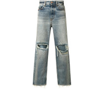 Schmale 'Dagh' Jeans im Destroyed-Look