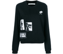 graphic patch sweatshirt
