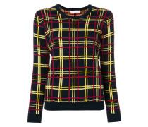 check print sweater