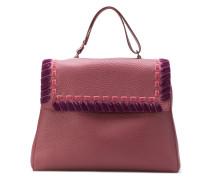 'Ethnik' Handtasche mit Samtdetails
