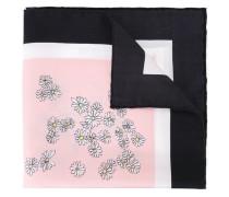 Seidenthalstuch mit Blüten-Print