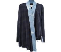 Kimonojacke mit Kontrastborten