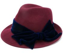 side bow embellished hat