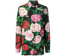 Hemd mit Rosen-Print