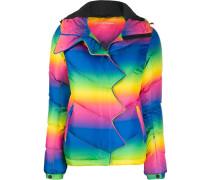 Daunenjacke mit Regenbogen-Print