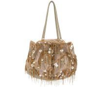 bead embellished tote bag
