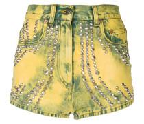 Jeans-Shorts mit Verzierungen