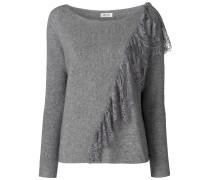 Pullover mit Spitzenapplikation