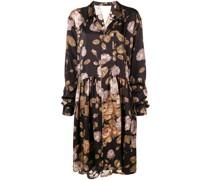 Oversized-Kleid mit Blumen-Print