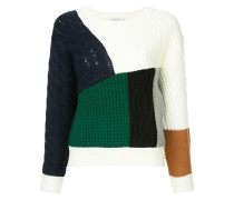 Pullover in Patchwork-Optik