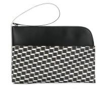 cube print clutch bag