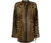 Seidenbluse mit Leopardenmuster