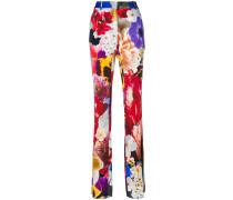 Hose mit Blumen-Print
