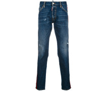 Schmale 'Kenny' Distressed-Jeans