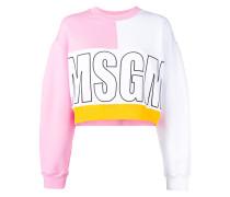 Cropped-Sweatshirt mit Logo