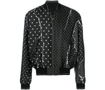polka-dot bomber jacket