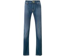 long straight-leg jeans