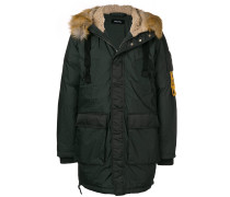 zipped padded coat