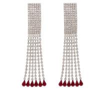 rectangular crystal drop earrings
