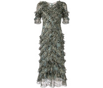 Short Sleeve Lynx Ruffle Dress