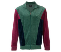 velour panel track jacket
