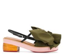 Slingback-Sandalen mit Schleife