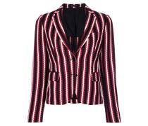striped woven blazer