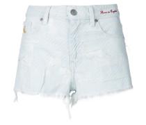 tartan destroyed shorts