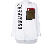 Oversized-Hemd mit Brusttasche
