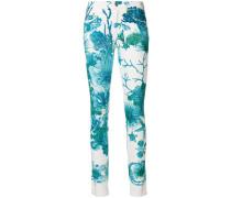 sea print jeans
