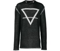 Intarsien-Pullover mit grafischem Print