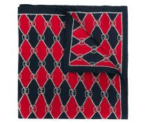 GG diamond check square scarf