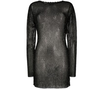 sequined knitted dress