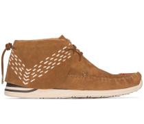 Brown Lhamo Sashiko folk boots