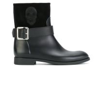 skull panel boots