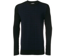 Karierter 'Prince of Wales' Wollpullover